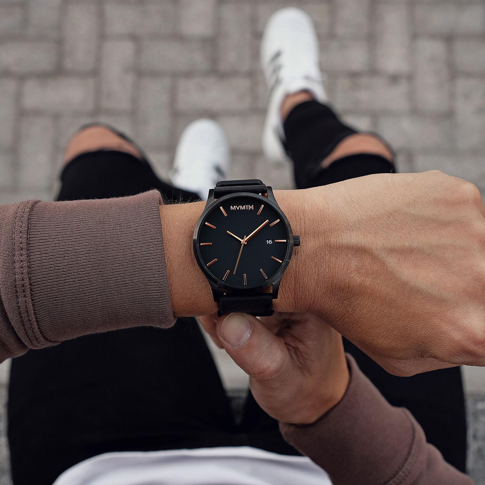 Classic Black Rose Leather